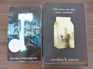 Livres anglais Hatchet et The face on the milk carton