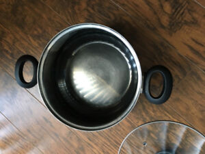 2 handle stainless steel stock pot