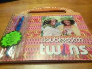 Learn how to Crochet with the Doublestitch Twins Book / CD/Hooks