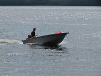 14' fiberglass with 9.9 Mariner outboard