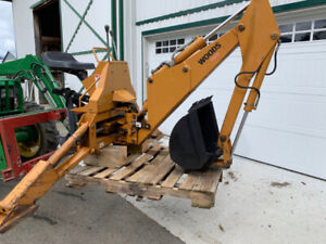 Woods Back hoe for 3 point farm tractor