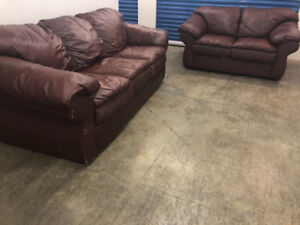 Leather COUCH SET - delivery