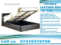 Double and Kingsize leather Bed Frame Only Or With Mattress Your Choice Awari