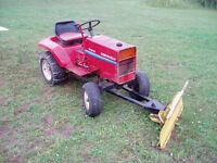 gravel tractor plow and mower
