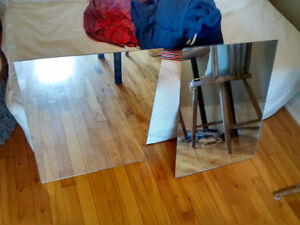 Miroirs sans cadre / Mirrors without frame