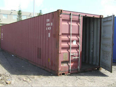 40ft High Cube 96 Shipping Container 100 Wind Watertight Long Beach Ca