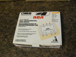 RCA 4- way Multi-Switch (New in the box) & Cable (NEW)