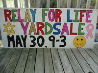 Relay for LIfe - Fundraising Yardsale
