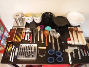 Moving Sale! Kitchen: dishes/ utensils/tools etc & home decor!