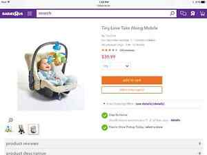 Tiny Love mobile on the go.  Mobile pour Bebe de transport