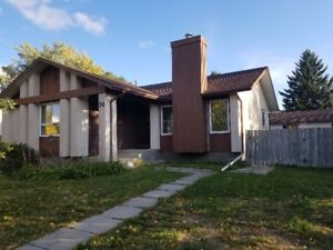 3 bd. house with fully finished basement + double garage