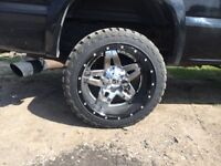 22x12 2piece Fuel Full Blown 8on6.5 bolt pattern