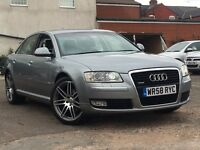 Audi A8 3.0TDi Quattro LWB 2009 + FULL SERVICE HISTORY AND 12 MONTHS MOT + 2 KEEPERS FROM NEW