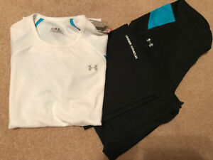 UnderArmour women's t-shirt/pant set, sz Med