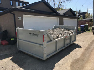 concrete dumpster  $249 up to 6 yards clean no garbage
