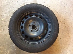 Gislaved winter tire and steel rim set (x4) Windsor Region Ontario image 1