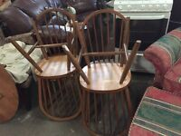X4 wooden dining chairs
