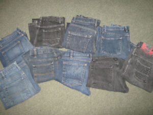assorted boys jeans, size 14 plus - 30/32