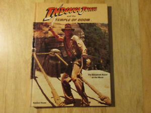 INDIANA JONES AND THE TEMPLE OF DOOM Hardcover Book Vintage HC