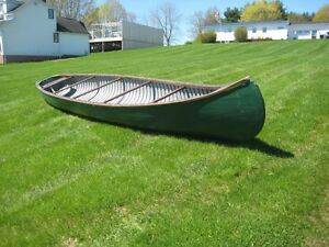Green Cedar Strip Canoe