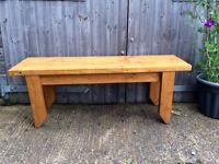 Garden / kitchen / solid wooden handmade bench