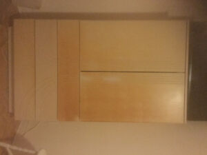 Tall solid wood bedroom commode, Bleached Oak finish
