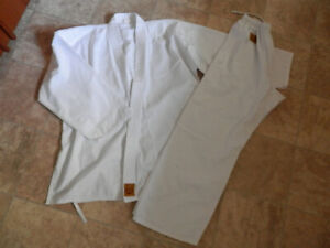 Bag of karate/martial arts uniforms (tops & bottoms)