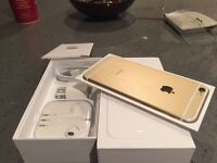iPhone 6 GOLD/OR 16g factory unlock applecare+