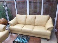 Genuine Leather Sofa. 3 + 2 + 1 seater