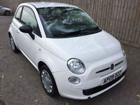 2009 09 Fiat 500 1.2 POP WHITE 29k 65.6 MPG 1st TIME BUYERS CAR MAY P/X