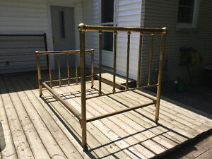 Antique Brass Bed c1870 Stratford Kitchener Area image 9