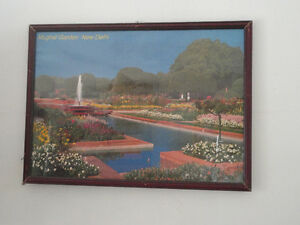 Decorative framed Mughal Gardens, New Delhi print wall hanging London Ontario image 1