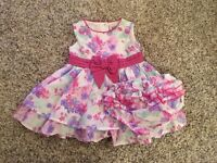 TU Dress and Matching Knickers - 3/6 months