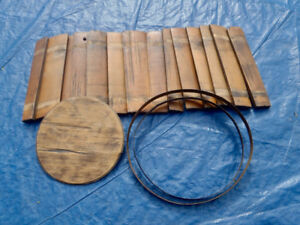 Antique Wooden Bucket (needs assembly)