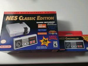 NES CLASSIC EDITION neuf avec manette de plus