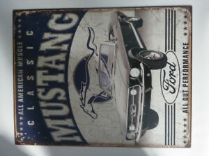 METAL CLASSIC CAR MUSTANG/FORD SIGN BRAND NEW