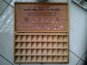 OLD WILLSON'S HANDY BOX FOR LETTERING Windsor Region Ontario image 4