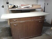 Draftsmen desk and Paper storage unit