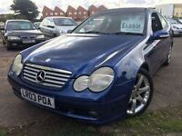 MERCEDES C CLASS C200 KOMPRESSOR 2003 + JUST 60,000 MILES + 12 MONTHS MOT!!