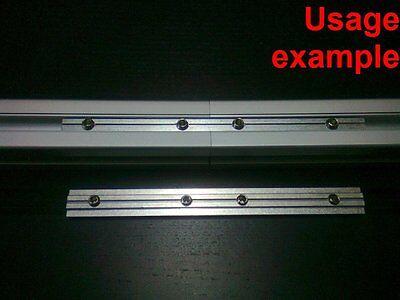 Aluminum T-slot Profile 180 Deg Straight Inside Connector 30x30-8mm 4-set