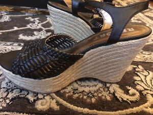 Black Report Wedges - Size 10