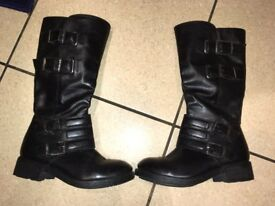Faith leather boots, good condition