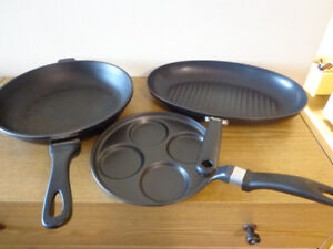 3 FRY PANS USED ALL FOR $ 18