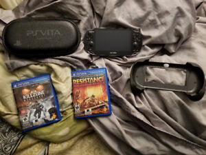 Playstation vita original with case and charger