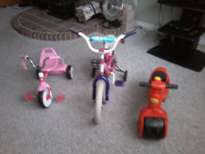 Childs Bikes and Trikes