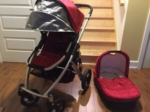 Uppababy vista with basinnet