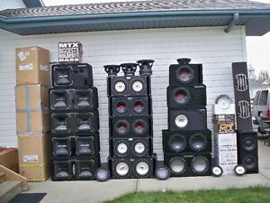 "Mtx 1200 watt rms dual 12"" ported low n loud sub box"