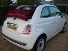 2014 Fiat 500C 1.2 LOUNGE, White, FSH, 20,000, 1 Owner