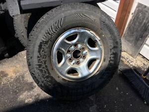 265/75R16 Tires on Steel Rims from 2001 GMC Sierra