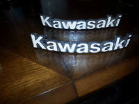 used emblems for kawasaki they are two pairs of emblems